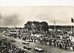 Le Mans Circuit Sarthe Passage Devant Tribunes 1957 Cachet 24 Heures Flamme Eyquem MarchallVeedol - Le Mans