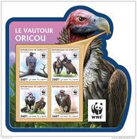 DJIBOUTI 2016 ** WWF Lapped-faced Vulture Ohrengeier Vautour M/S - OFFICIAL ISSUE - A1646 - Ungebraucht