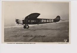 Vintage Pc KLM K.L.M Royal Dutch Airlines Fokker F-VII Aircraft - 1919-1938: Between Wars