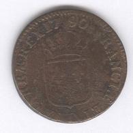 Sol à L'Ecu France 1790 Lyon - TTB - 987-1789 Royal