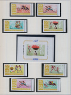 AJMAN  1967    Jeux Olympiques MEXICO   N°  189A / 196A  +  BF   N°  16 B        COTE 10 € 50 - Timbres