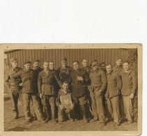Carte Photo Marechal Pétain Célébré Par Prisoniers  Guerre Au Stalag XB 68 Camp De Concentration Sandbosel Bremervorde - Politieke En Militaire Mannen