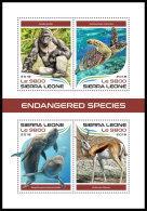 SIERRA LEONE 2018 MNH** Gorilla Monkey Endangered Species M/S - OFFICIAL ISSUE - DH1819 - Gorilles
