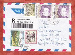 Luftpost, Einschreiben Reco, MiF Schubert U.a., Innsbruck-Neuarzl Nach Witfield 1998 (68310) - 1945-.... 2a Repubblica