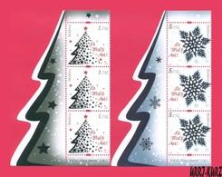 MOLDOVA 2018 Holidays Celebration Merry Christmas! & Happy New 2019 Year! 3 Sets With Margin Mi1070-1071 Sc1006-1007 MNH - Moldova