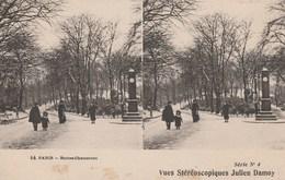 PARIS BUTTES CHAUMONT  VUES STEREOSCOPIQUES JULIEN DAMOY - Arrondissement: 19