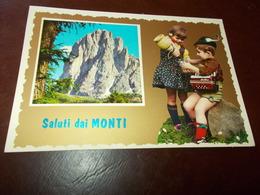 B706  Bambini Con Cappello Da Alpino Viaggiata - Bambini