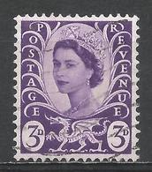 Wales & Monmouthshire 1958. Scott #1 (U) Queen Elizabeth II * - Emissions Régionales