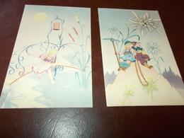 B706   2 Cartoline Bambini Non Viaggiate - Bambini