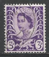 Wales & Monmouthshire 1958. Scott #1 (U) Queen Elizabeth II - Emissions Régionales