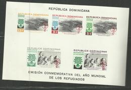 DOMINACAN DOMINACAINE DOMINICANA REPUBBLICA 1960 REFUGEE YEAR ANO DE LOS REFUGIADOS BLOCK SHEET BLOCCO FOGLIETTO MNH - Repubblica Domenicana