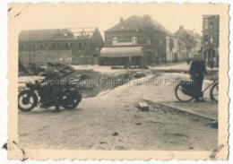 Vilvoorde Vilvorde Gesprengte Brücke Pont Sauter Krieg Guerre Militaire Militär Wehrmacht Motorrad Moto  Soldat Allemand - Vilvoorde