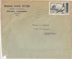 Enveloppe Publicitaire Madame Annick Celton Agence De Location Beg-Meil - Fouesnant - Publicités