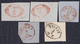 Italy Trieste Postmarks On Cuttings - Trieste