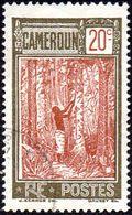 Cameroun Obl. N° 112 - Récolte Du Caoutchouc - Camerun (1915-1959)