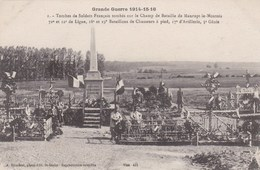 MAURUPT LE MONTOIS - MARNE - (51) - 2  CPA  - (1 ANIMEE) - TOMBES MILITAIRES - GUERRE 1914/1916 - War Cemeteries