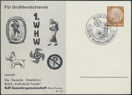 Deutsches Reich Privatganzsache PP 122 C 103 02  1. WHW SST Würzburg N.S.G Kraft - Entiers Postaux