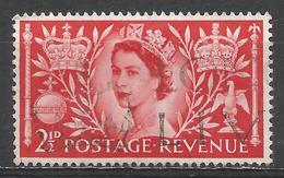 Great Britain 1953. Scott #313 (U) Queen Elizabeth II, Coronation * - Oblitérés