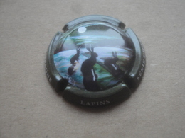 Réf: CT3 // CAPSULE MUSELET PLAQUE CHAMPAGNE SERIE CHASSE LAPIN 3/6  Plaques Capsules - Sonstige