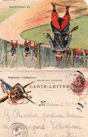 """CL-   Régiment D' Infanterie- ( Tenue: """" En Tirailleurs""""-) - Marcophilie (Lettres)"""