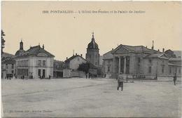CPA - PONTARLIER - L'HOTEL DES POSTES ET LE PALAIS DE JUSTICE - Pontarlier
