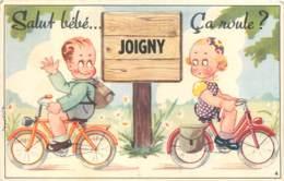 89 - JOIGNY - Carte A Systeme - CYCLISTES 1954 - Joigny