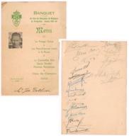 Verviers  Menus Football  1948 - Menus