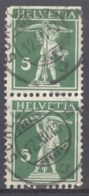 HELVETIA 1909: Mi 113 II / YT 136, O - FREE SHIPPING ABOVE 10 EURO - Used Stamps