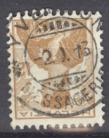 HELVETIA 1909: Mi 115 / YT 132, O MESSAGERIE - FREE SHIPPING ABOVE 10 EURO - Used Stamps