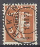 HELVETIA 1915-40: MI 137 / YT 158, O - FREE SHIPPING ABOVE 10 EURO - Used Stamps