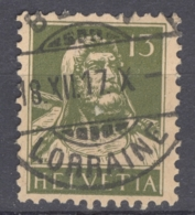 HELVETIA 1915-40: MI 139 / YT 140, O LORRAINE - FREE SHIPPING ABOVE 10 EURO - Used Stamps
