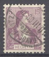 HELVETIA 1907: Mi 100 / YT 118, O - FREE SHIPPING ABOVE 10 EURO - Svizzera