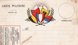 CP- 5 Drapeaux- - Marcophilie (Lettres)