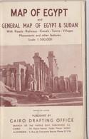 Egypte Carte General 1954 Trés Bonne état. - Cartes Géographiques