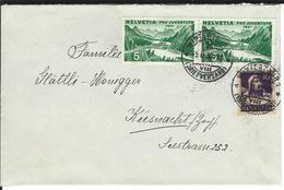 SBK 2xJ57, 184, Mi 2x246, 204  Winterthur 1 - Briefe U. Dokumente