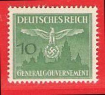 MiNr.27 Xx  Deutschland Besetzungsausgaben II. Weltkrieg Generalgouvernement Dienstmarken - Besetzungen 1938-45