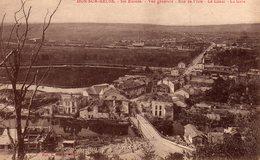 DPT 55 DUN-SUR-MEUSE Ses Ruines Vue Générale Rue De L'isle Le Canal La Gare - Dun Sur Meuse