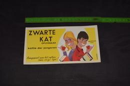 Buvard Vloeiblad Zwarte Kat Oplosbaar Chat Noir Soluble 20 Cm X 10,5 Cm - Coffee & Tea