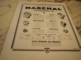 ANCIENNE PUBLICITE CODE DE LA ROUTE MARCHAL  1930 - Transport