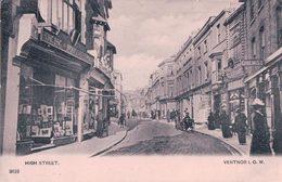 Angleterre Isle Of Wight, Ventnor, Higt Sreet (2619) Pli D'angle - Ventnor