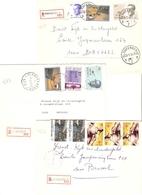 Belgique - 3 Lettres Recommandées BLANKENBERGE - 1984 - Flandre Occidentale - Cob 1806/2022/2069/2093/2095/2104/2127 - Bélgica