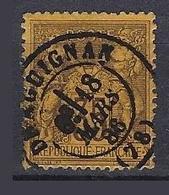 France 1877-80 Sage Y&T N° 93 Oblitération Draguignan - 1876-1898 Sage (Tipo II)