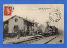 28 EURE ET LOIR - THIRON GARDAIS La Gare, Arrivée D'un Train - Autres Communes