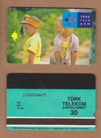 AC - TURK TELECOM PHONECARDS - SAMPLE CARD HOLIDAY - KIDS - CHILDREN RARE - Turkey
