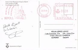 30980. Postal RIPOLL (Gerona) 2005. Franqueo Mecanico, San Miquel De La Roqueta - 1931-Hoy: 2ª República - ... Juan Carlos I