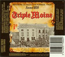 Br. Du Bocq (Purnode) - Triple Moine 75cl 85-88 - Bière