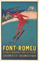 FONT ROMEU - Le Grand Hôtel, Carte Illustrée Par Mauzan. - France