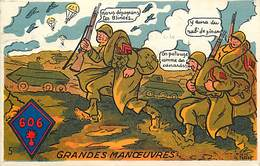-ref-B540- Militaria - Illustrateurs - Illustrateur Petiet - Humoristiques - Regiments 606 - Chars - Edition Gaby - - Régiments