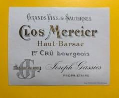 9464 - Clos Mercier Haut-Barsac Sauternes - Bordeaux
