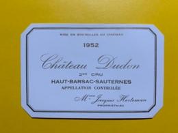9472 - Château Dudon 1929 Haut-Barsac  Sauternes - Bordeaux